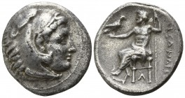 "Kings of Macedon. Side. Alexander III ""the Great"" 336-323 BC. Drachm AR"