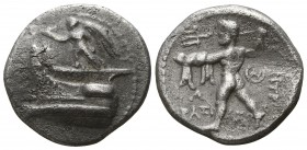 Kings of Macedon. Tarsos. Demetrios I Poliorketes 306-283 BC. Drachm AR