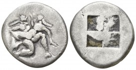 Islands off Thrace. Thasos circa 500-463 BC. Drachm AR