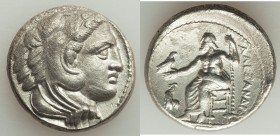 MACEDONIAN KINGDOM. Alexander III the Great (336-323 BC). AR tetradrachm (26mm, 16.65 gm, 12h). About XF, porosity. Lifetime issue of 'Amphipolis', ca...