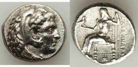 MACEDONIAN KINGDOM. Alexander III the Great (336-323 BC). AR tetradrachm (25mm, 16.85 gm, 10h). About XF. Late lifetime-early posthumous issue of Baby...