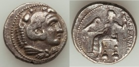MACEDONIAN KINGDOM. Alexander III the Great (336-323 BC). AR tetradrachm (25mm, 16.84 gm, 10h). Choice Fine. Lifetime issue of Ake or Tyre, ca. 330-32...