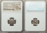 MACEDONIAN KINGDOM. Alexander III the Great (336-323 BC). AR drachm (16mm, 10h). NGC Choice XF. Posthumous issue of Lampsacus, ca. 320-305 BC. Head of...