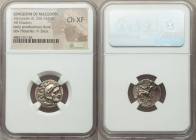 MACEDONIAN KINGDOM. Alexander III the Great (336-323 BC). AR drachm (17mm, 1h). NGC Choice XF. Posthumous issue of 'Colophon', ca. 310-301 BC. Head of...
