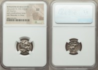MACEDONIAN KINGDOM. Alexander III the Great (336-323 BC). AR drachm (16mm, 1h). NGC XF. Early posthumous issue of Sardes, ca. 323-319 BC. Head of Hera...