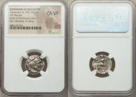 MACEDONIAN KINGDOM. Alexander III the Great (336-323 BC). AR drachm (17mm, 12h). NGC Choice VF. Posthumous issue of Abydus, ca. 310-301 BC. Head of He...