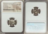 MACEDONIAN KINGDOM. Alexander III the Great (336-323 BC). AR drachm (16mm, 4h). NGC Choice VF. Lifetime issue of Lampsacus, ca. 328-323 BC. Head of He...