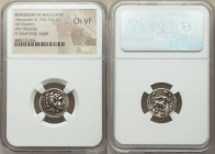 MACEDONIAN KINGDOM. Alexander III the Great (336-323 BC). AR drachm (17mm, 1h). NGC Choice VF. Lifetime issue of Miletus, ca. 325-323 BC. Head of Hera...