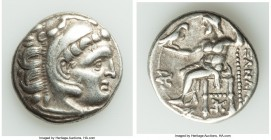 MACEDONIAN KINGDOM. Alexander III the Great (336-323 BC). AR drachm (18mm, 4.43 gm, 12h). About VF. Posthumous issue of Colophon, ca. 319-310 BC. Head...