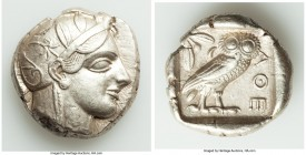 ATTICA. Athens. Ca. 440-404 BC. AR tetradrachm (24mm, 17.18 gm, 3h). XF. Mid-mass coinage issue. Head of Athena right, wearing crested Attic helmet or...
