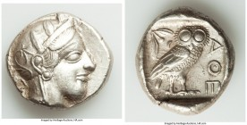 ATTICA. Athens. Ca. 440-404 BC. AR tetradrachm (25mm, 17.18 gm, 9h). Mid-mass coinage issue. Head of Athena right, wearing crested Attic helmet orname...