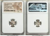 LYCIAN LEAGUE. Masicytes. Ca. 48-20 BC. AR hemidrachm (14mm, 2.00 gm, 12h). NGC MS 5/5 - 4/5. Series 1. Laureate head of Apollo right; Λ-Y below / M-A...