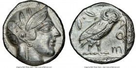 NEAR EAST or EGYPT. Ca. 5th-4th centuries BC. AR tetradrachm (24mm, 15.62 gm, 4h). NGC Choice AU 4/5 - 4/5. Head of Athena right, wearing crested Atti...
