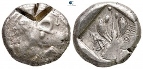 Cyprus. Uncertain mint circa 480 BC. Siglos - Stater AR