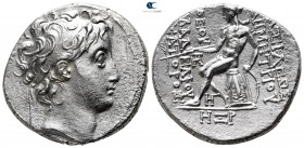 Seleukid Kingdom. Antioch on the Orontes. Demetrios II Nikator, 1st reign 146-138 BC. Dated SE 168=145/4 BC. Tetradrachm AR