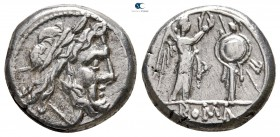 Anonymous after 211 BC. Rome. Victoriatus AR