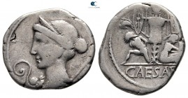 Julius Caesar 49-48 BC. Military mint traveling with Caesar in Spain. Denarius AR