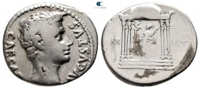 Augustus 27 BC-AD 14. Uncertain Spanish mint (Colonia Patricia?). Denarius AR
