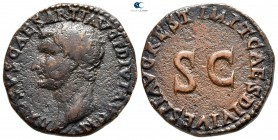Drusus, son of Tiberius AD 22-23. restitution issue struck under Titus. Rome. As Æ