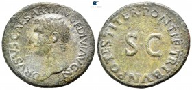 Drusus, son of Tiberius AD 22-23. Rome. As Æ
