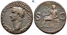 Gaius (Caligula) AD 37-41. Rome. As Æ