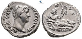 "Hadrian AD 117-138. ""Travel series"" issue. Rome. Denarius AR"