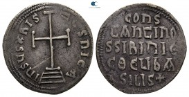Constantine VI with Irene AD 780-797. Constantinople. Miliaresion AR