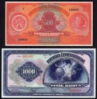 Czechoslovakia Lot of 2 Modern Reprints of Banknotes 1929 - 1932