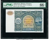 Afghanistan Ministry of Finance 50 Afghanis ND (1936) / SH1315 Pick 19r Remainder PMG Gem Uncirculated 66 EPQ.   HID09801242017  © 2020 Heritage Aucti...