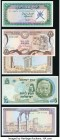 Eleven Middle Eastern Notes Including Examples from Afghanistan, Cyprus, Israel, and Lebanon. About Uncirculated or Better.   HID09801242017  © 2020 H...