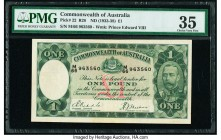 Australia Commonwealth Bank of Australia 1 Pound ND (1933-38) Pick 22 R28 PMG Choice Very Fine 35.   HID09801242017  © 2020 Heritage Auctions | All Ri...