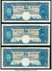 Australia Commonwealth Bank of Australia 5 Pounds ND (1939) Pick 27a R45, Three Examples Fine. Repairs. There will be no returns on this lot for any r...