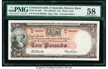 Australia Commonwealth of Australia Reserve Bank 10 Pounds ND (1960-65) Pick 36 R63 PMG Choice About Unc 58.   HID09801242017  © 2020 Heritage Auction...