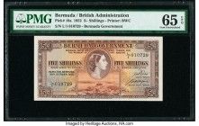 Bermuda Bermuda Government 5 Shillings 20.10.1952 Pick 18a PMG Gem Uncirculated 65 EPQ.   HID09801242017  © 2020 Heritage Auctions | All Rights Reserv...