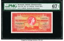 Bermuda Bermuda Government 10 Shillings 1.5.1957 Pick 19b PMG Superb Gem Unc 67 EPQ.   HID09801242017  © 2020 Heritage Auctions | All Rights Reserved