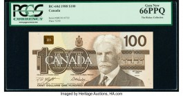 Canada Bank of Canada $100 1988 Pick 99d BC-60d PCGS Gem New 66 PPQ.   HID09801242017  © 2020 Heritage Auctions | All Rights Reserved