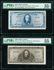 Chile Banco Central de Chile 500 Pesos = 50 Condores; 1000 Pesos = 100 Condores ND (1947-59) Pick 115; 116 Two Examples PMG About Uncirculated 55 EPQ;...