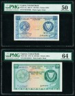 Cyprus Central Bank of Cyprus 250; 500 Mils 1.9.1971; 1.5.1975 Pick 41a; 42b Two Examples PMG About Uncirculated 50; Choice Uncirculated 64.   HID0980...