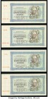 "Czechoslovakia Republika Ceskoslovenska 2000 Korun 1945 Pick S50As Group of 4 Specimen About Uncirculated. All examples are cancelled perforated ""Spec..."