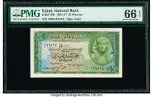 Egypt National Bank of Egypt 25 Piastres 1952-57 Pick 28b PMG Gem Uncirculated 66 EPQ.   HID09801242017  © 2020 Heritage Auctions | All Rights Reserve...