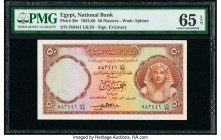 Egypt National Bank of Egypt 50 Piastres 1952-60 Pick 29c PMG Gem Uncirculated 65 EPQ.   HID09801242017  © 2020 Heritage Auctions | All Rights Reserve...