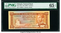 Ethiopia National Bank of Ethiopia 5 Dollars ND (1996) Pick 26a PMG Gem Uncirculated 65 EPQ.   HID09801242017  © 2020 Heritage Auctions | All Rights R...