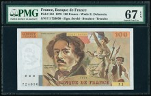 France Banque de France 100 Francs 1978 Pick 153 PMG Superb Gem Unc 67 EPQ.   HID09801242017  © 2020 Heritage Auctions | All Rights Reserved