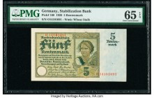 Germany Stabilazation Bank 5 Rentenmark 2.1.1926 Pick 169 PMG Gem Uncirculated 65 EPQ.   HID09801242017  © 2020 Heritage Auctions | All Rights Reserve...