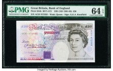 Great Britain Bank of England 20 Pounds 1991 (ND 1991-93) Pick 384b PMG Choice Uncirculated 64 EPQ.   HID09801242017  © 2020 Heritage Auctions | All R...
