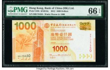 Hong Kong Bank of China (HK) Ltd. 1000 Dollars 1.1.2012 Pick 345b KNB16c PMG Gem Uncirculated 66 EPQ.   HID09801242017  © 2020 Heritage Auctions | All...