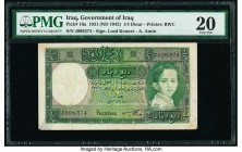 Iraq Government of Iraq 1/4 Dinar 1931 (ND 1942) Pick 16a PMG Very Fine 20. Repaired; paper pulls.  HID09801242017  © 2020 Heritage Auctions | All Rig...