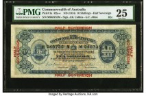 Australia Commonwealth of Australia 10 Shillings ND (1914) Pick 3a R2cF PMG Very Fine 25. A lightly circulated example with the bold serial number fon...