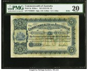 Australia Commonwealth of Australia 5 Pounds ND (1913-18) Pick 5a R36b PMG Very Fine 20. An appealing example of the upgraded design, which replaced t...