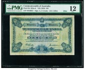Australia Commonwealth of Australia 10 Pounds ND (1918) Pick 6b R52a PMG Fine 12. A scarce note in every aspect with only four graded examples registe...